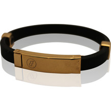 Magnetic energy bracelet Milano Gold