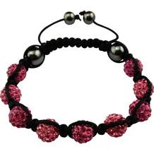 "Magnetic bracelet ""Shamballa"" Black / Pink"